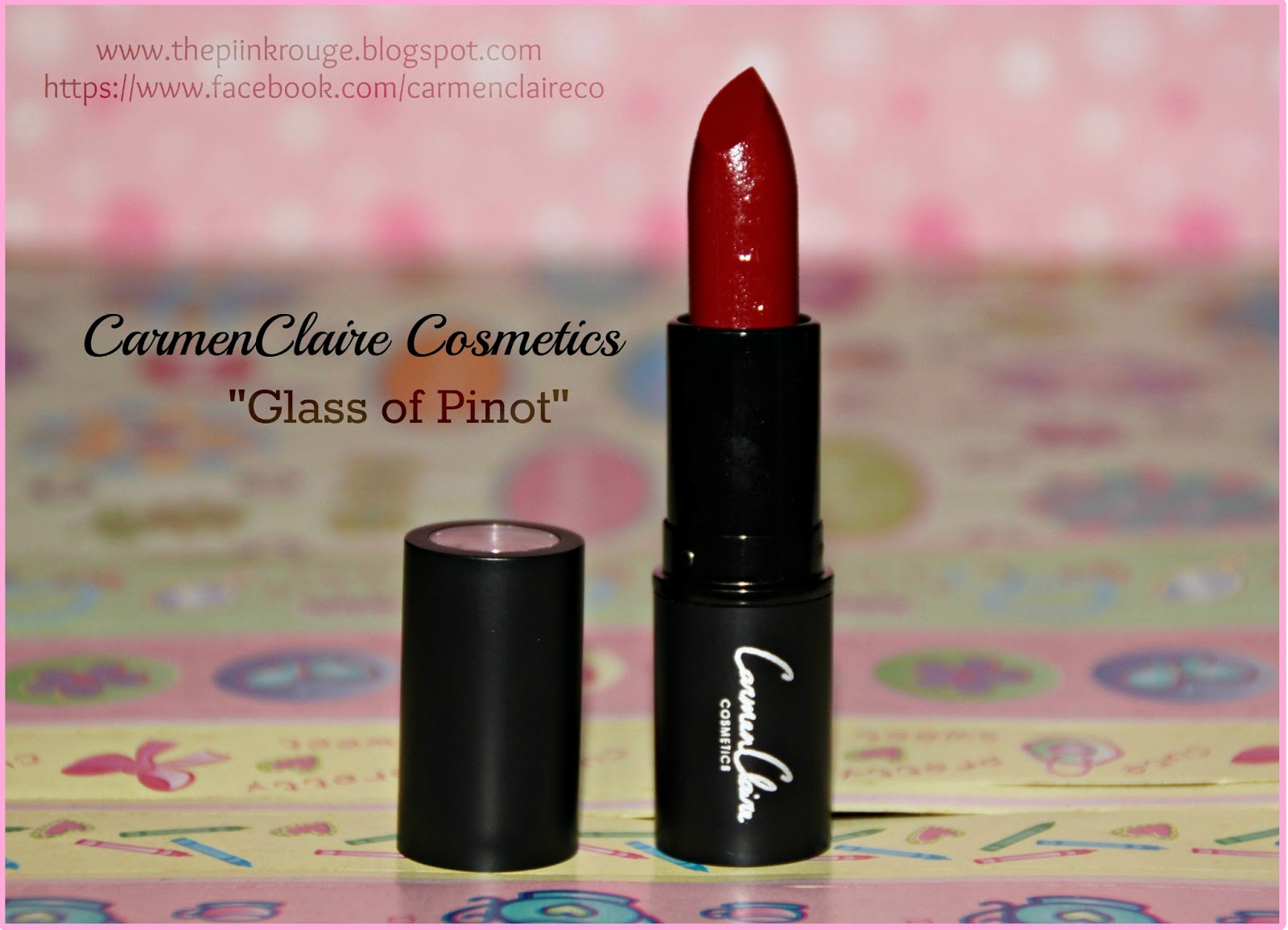 "Keep it Matte: CarmenClaire Matte Lipstick ""Glass of Pinot"
