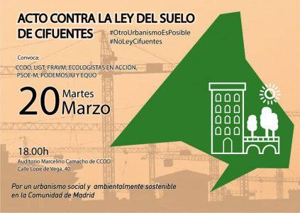 20 de marzo Por una ley del Suelo para las necesidades sociales
