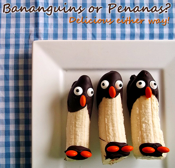 Bananguins or Penanas? These Banana Penguins are delicious either way!