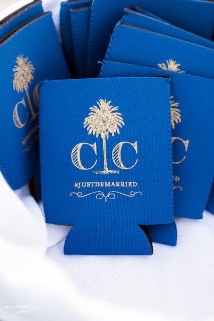Custom Wedding Monogram Koozie