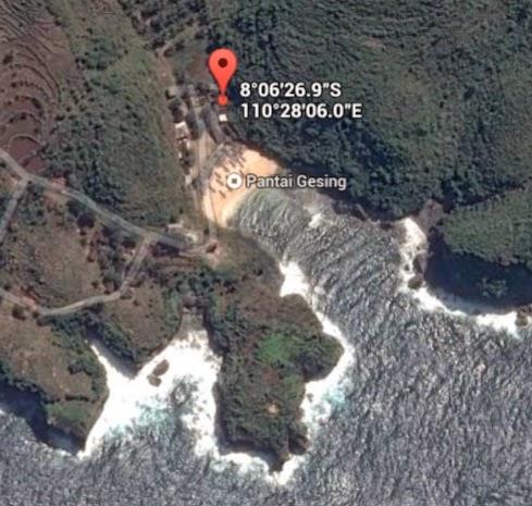 koordinat lokasi pantai gesing_siparjo.com