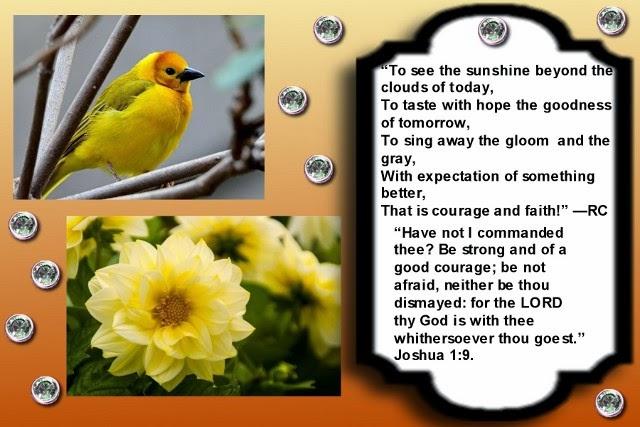 a beautiful inspirational Christian page