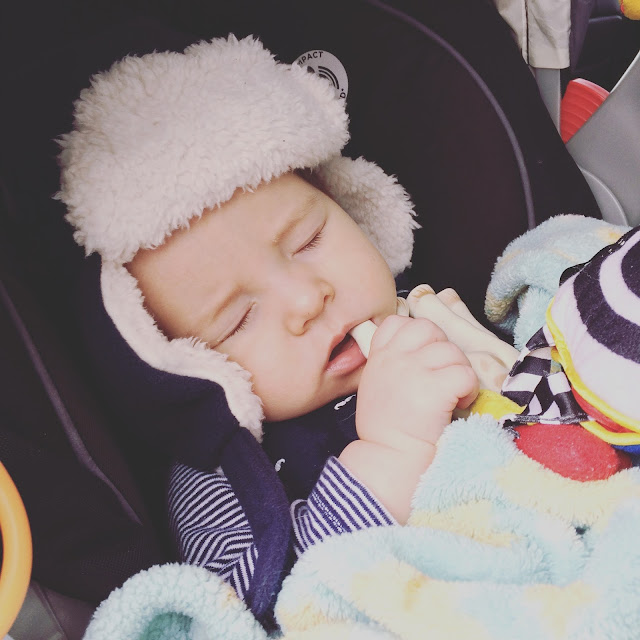 sleeping teething baby