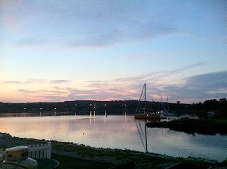 sunset mystic seaport