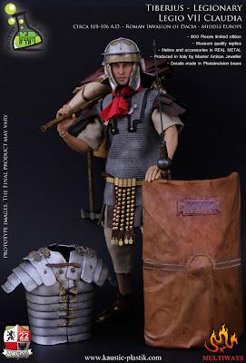 """Kaustic Plastic 1/6 scale """"Tiberius"""" Legionary Legio VII Claudia figure"""