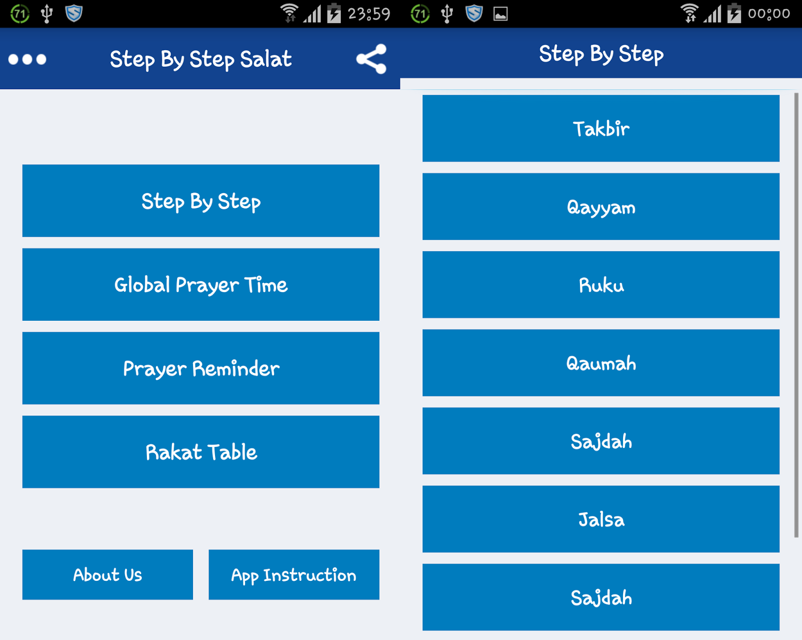 Learn Step by Step Salat(Namaz) Android App - Islamic Book