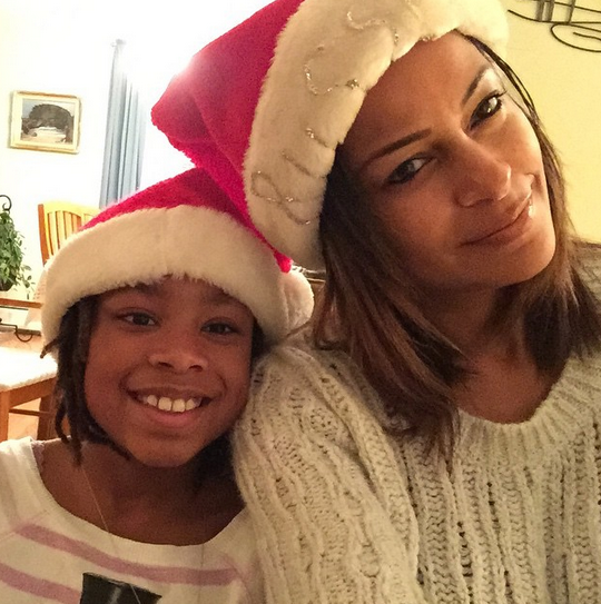 Claudia Jordan celebrating Christmas