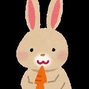 薄茶色のウサギのイラスト