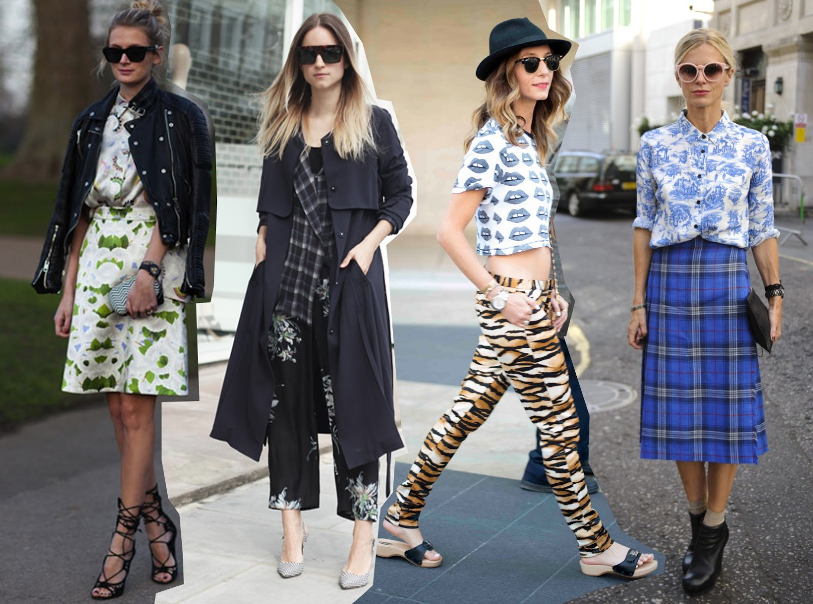How To Wear The Fashion Trend Clashing Prints Streetstyle