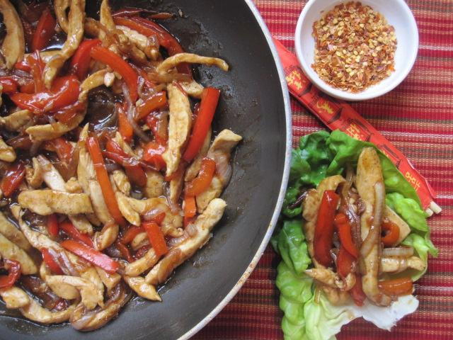 Stirring the Pot: Everyday Cooking: Chicken Stir-Fry Lettuce Wraps