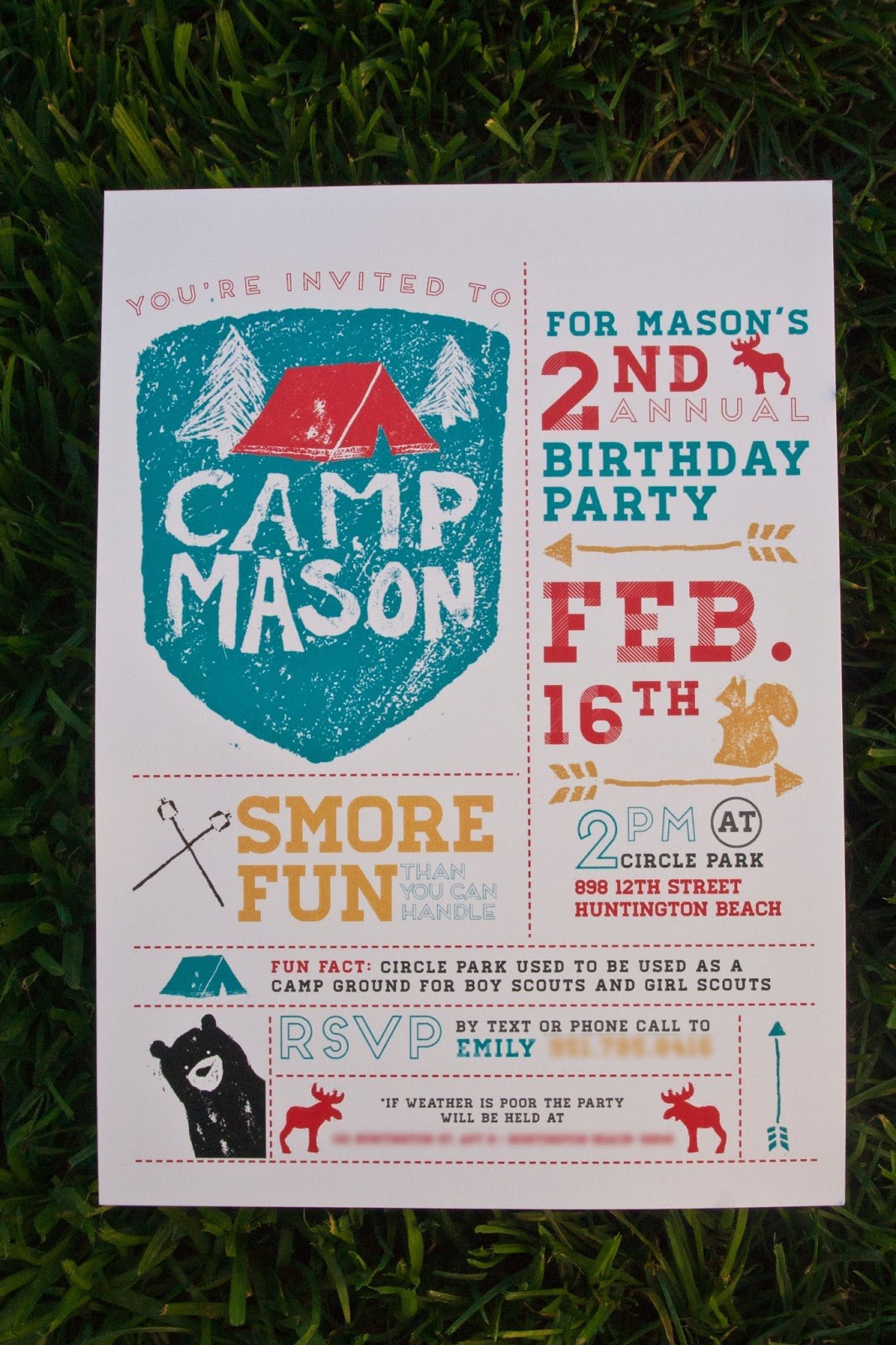 Camping Party Invitations