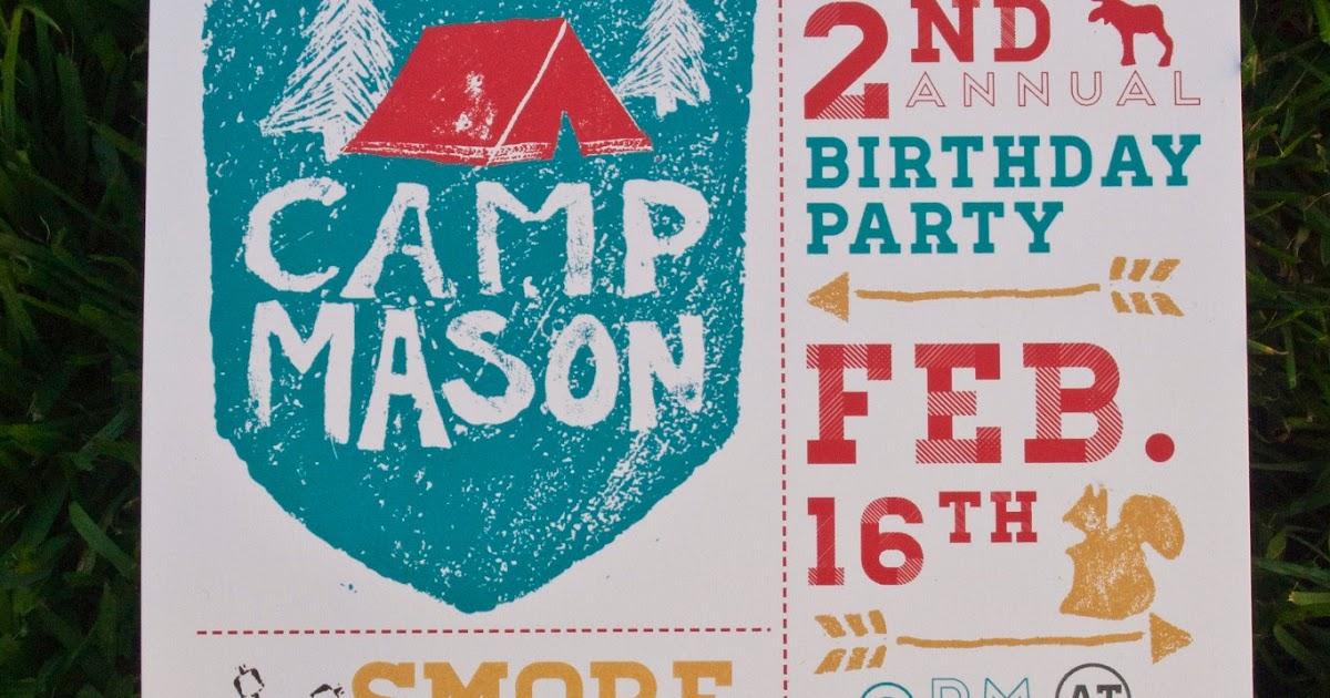 Emily camp design design fancy camping party invitation stopboris Images