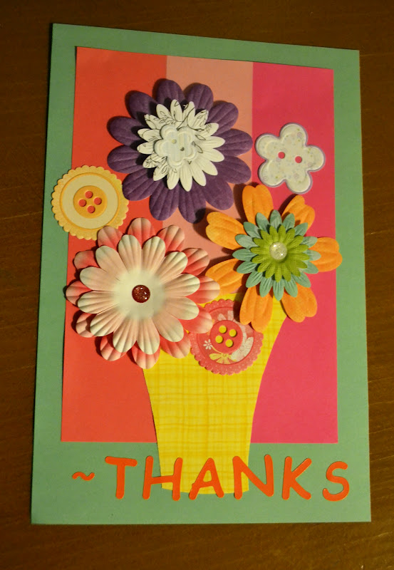 fly the coop crafts thank you card with flowers