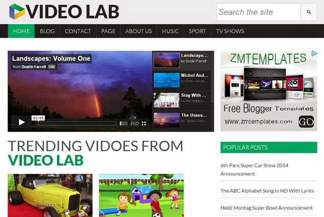 Video Lab Responsive Blogger Template