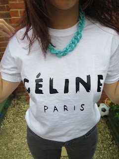 celine white tshirt fashion paris ootd
