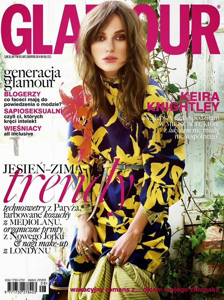 Keira Knightley - Glamour Magazine, Poland, August 2014