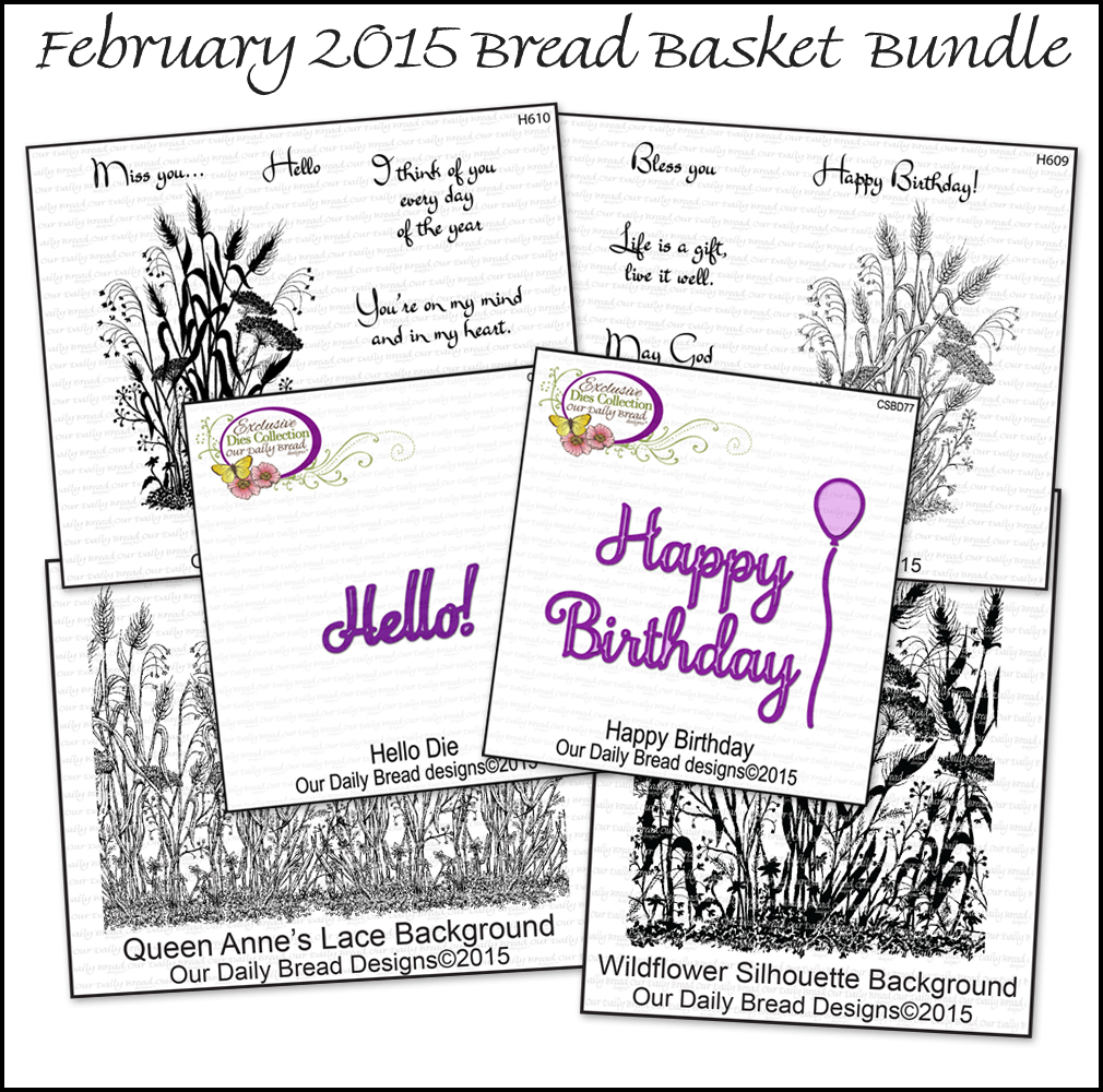 Stamps - Our Daily Bread Designs February Bread Basket Bundle