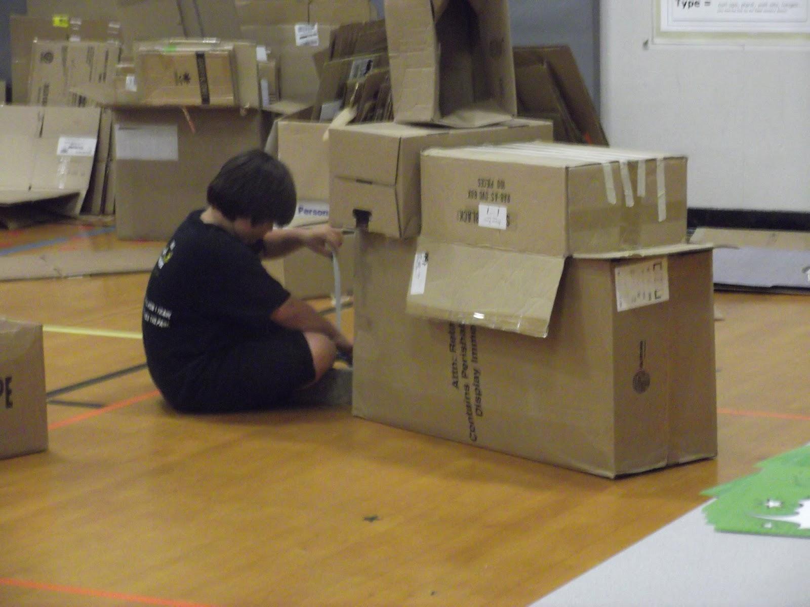 how to make a cardboard submarine