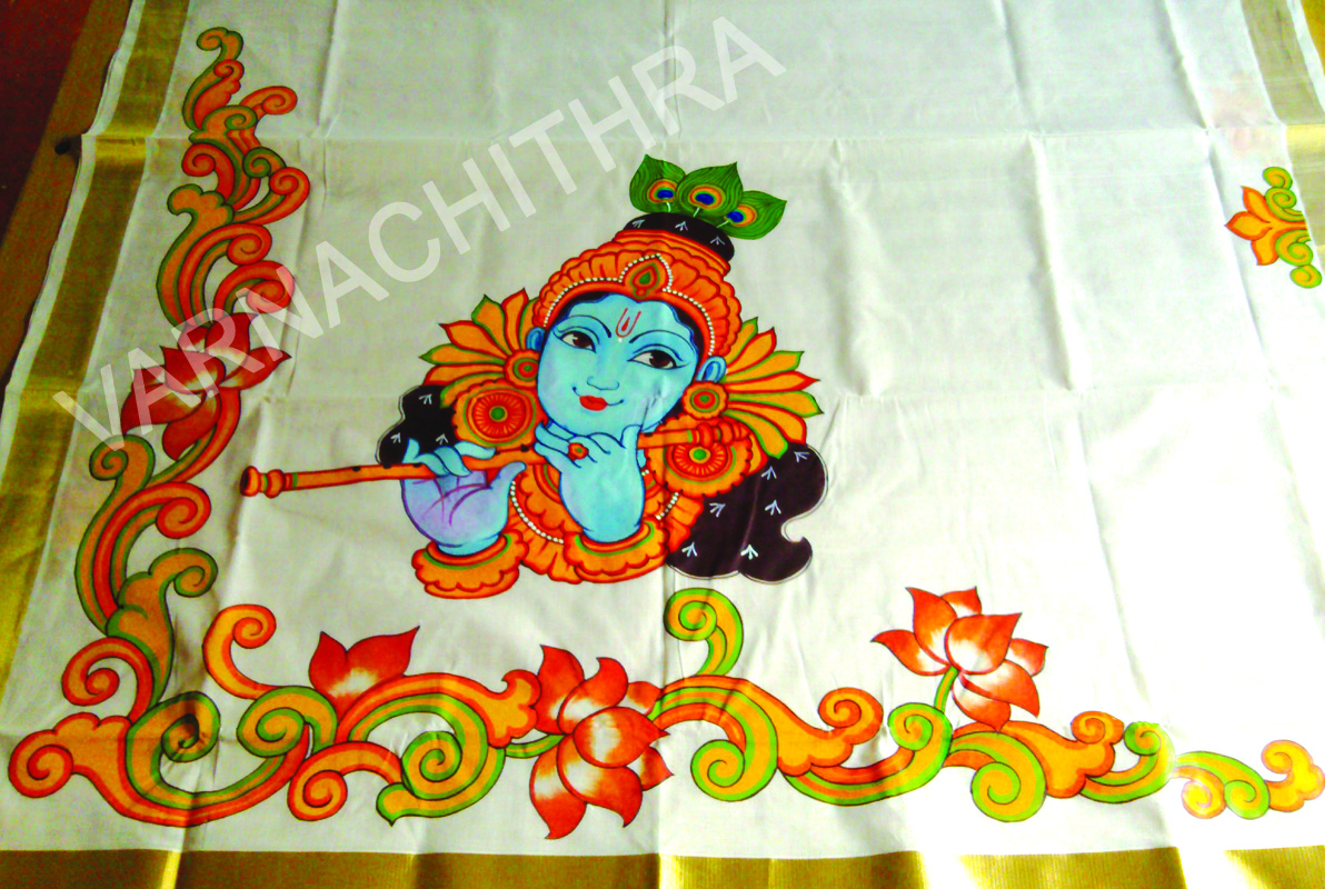 Varnachithra sarees mural for Mural painting images