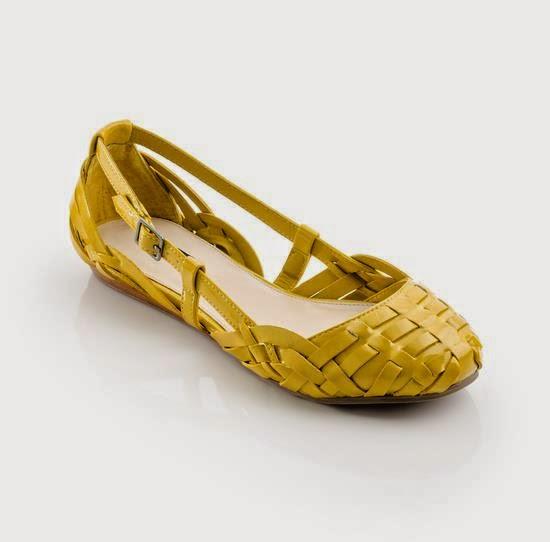 Yellow Flat Heel Design..