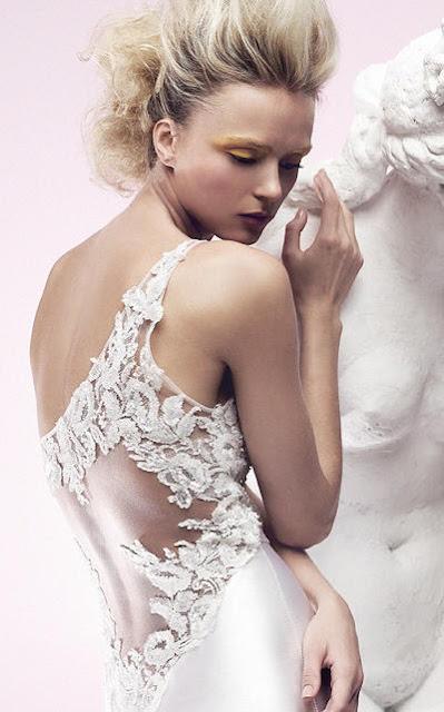 One Shoulder Flower Mermaid Wedding Dress