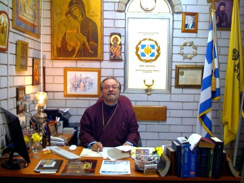 Rev. Nicholas Skordilis in his office