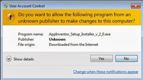 Instalar App Inventor 2 en Windows