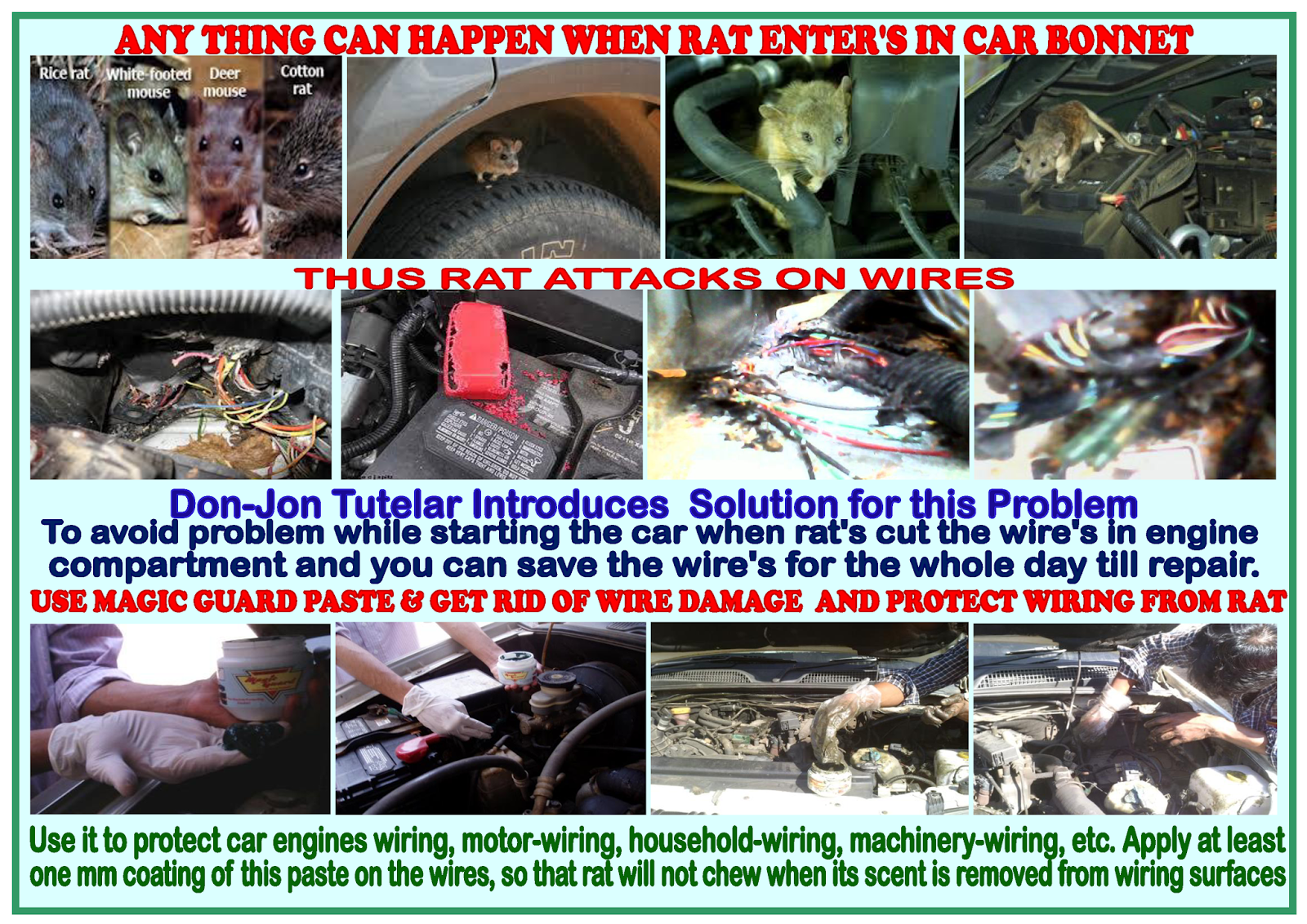 how to keep rats away from car wires