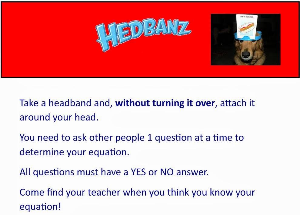 M3 Making Math Meaningful Quadratic Headbanz