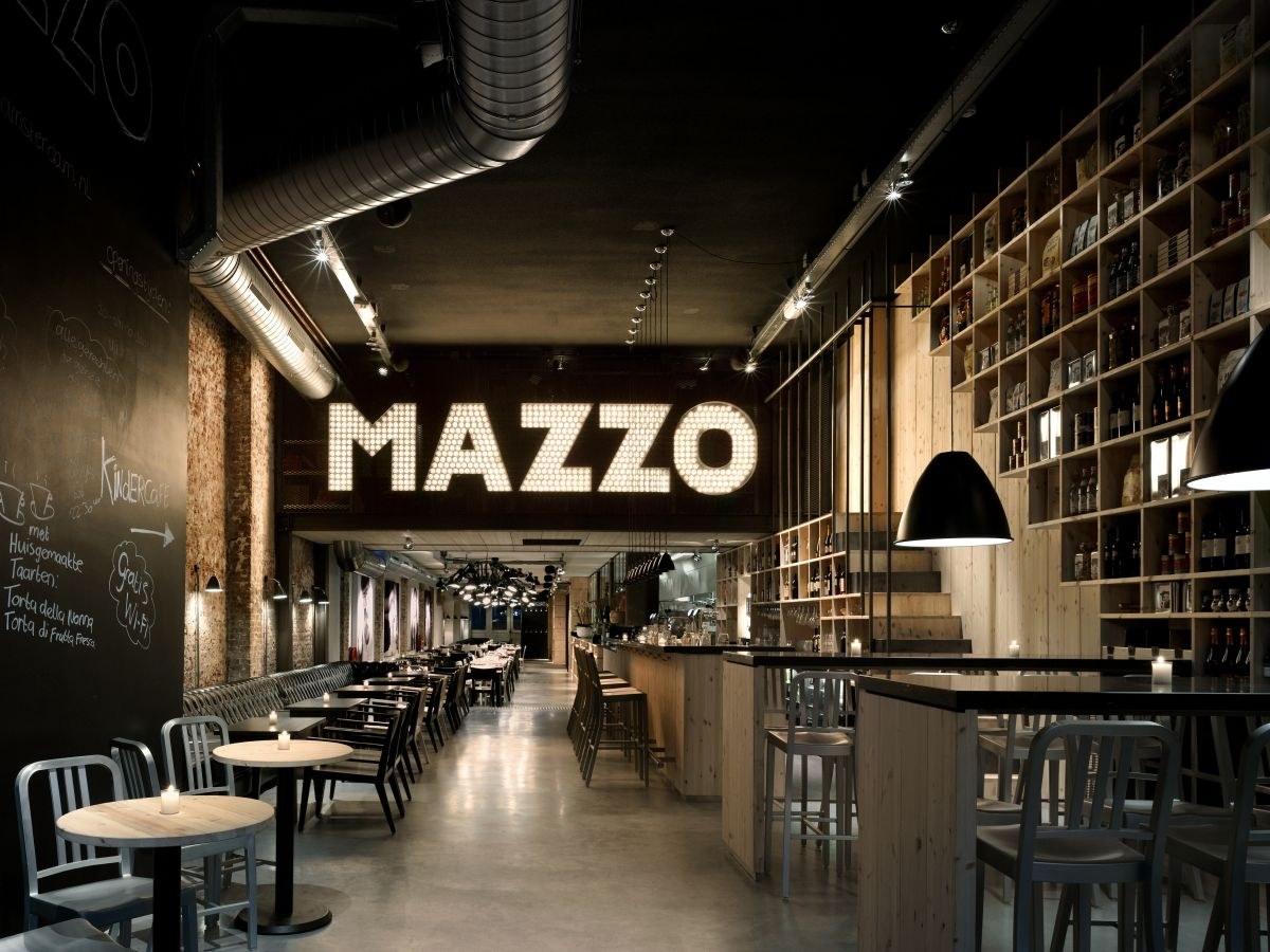Mazzo amsterdam restaurant interior design for Brilliant cafe interior design ideas
