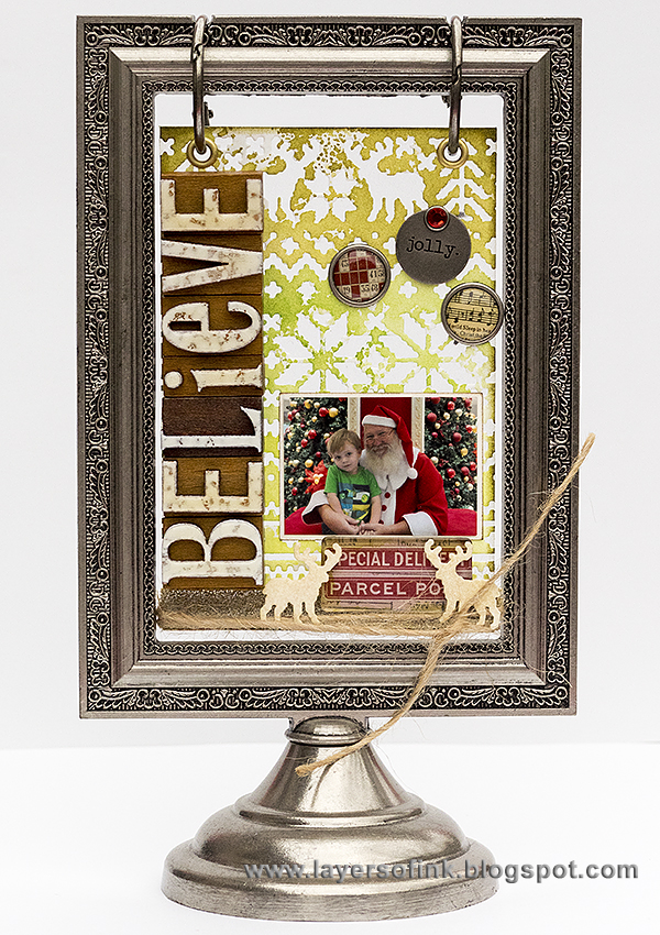 Layers of ink - Christmas Flip Frame Tutorial by Anna-Karin