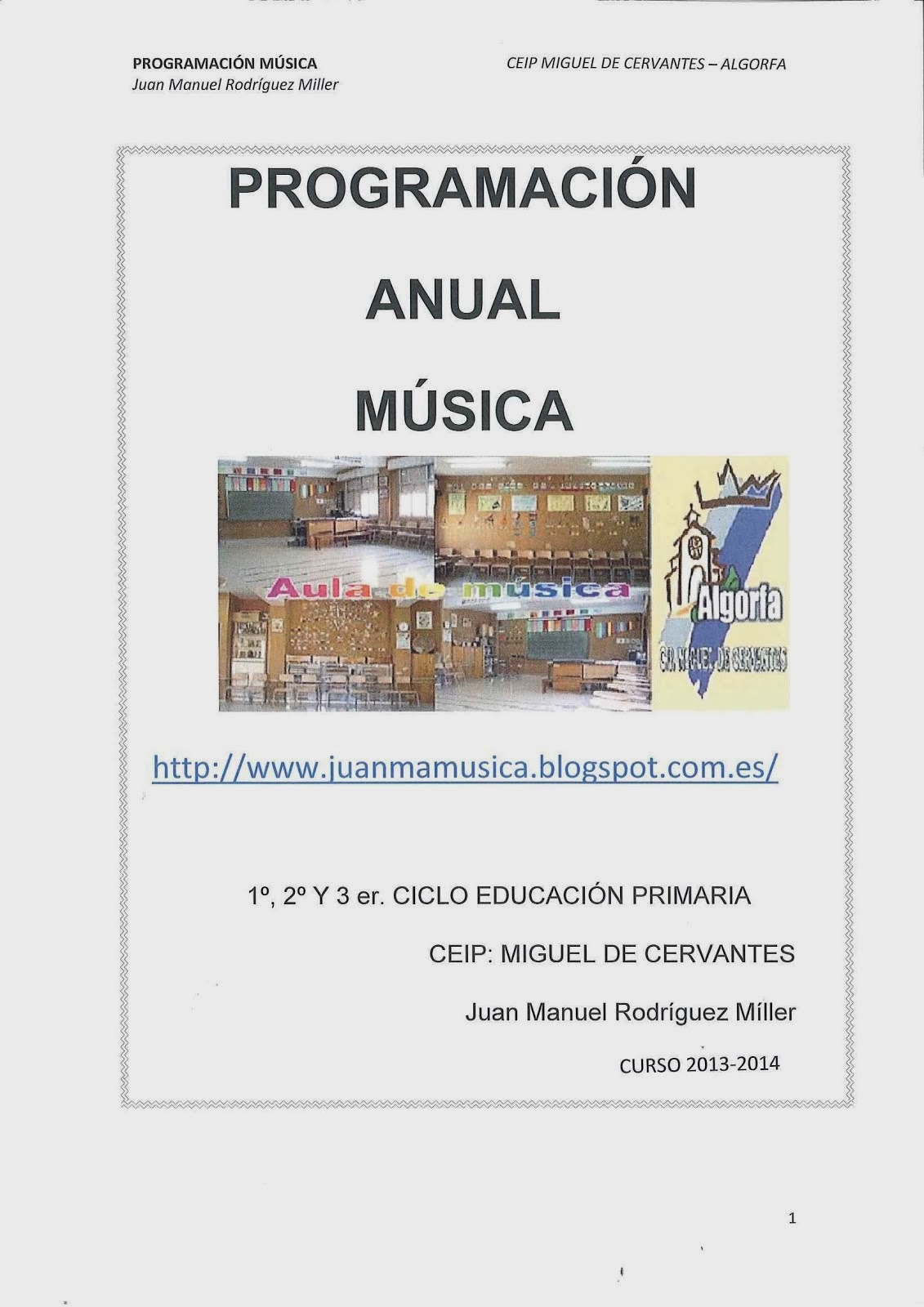PROGRAMACIÓN ANUAL MÚSICA CURSO 2013-2014