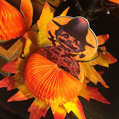 Bindlegrim tissue paper and diecut decoration in a vintage-style for Halloween 2015.