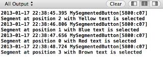 iOS UISegmentedControl console log