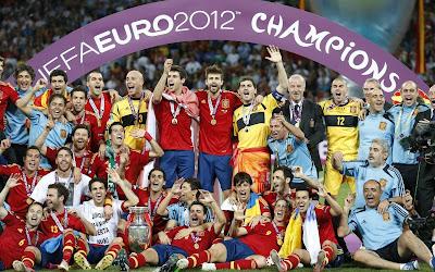 Euro 2012 Champion Spain National Football Team HD Desktop Wallpaper