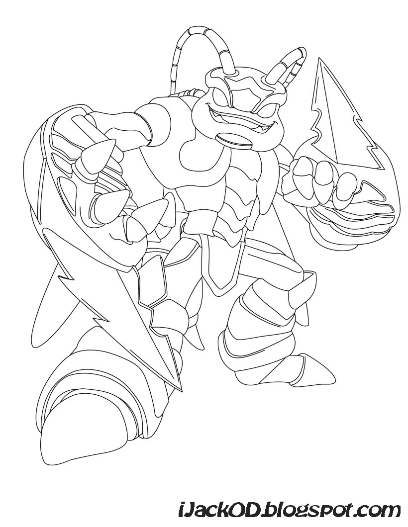 skylanders giants colouring pages