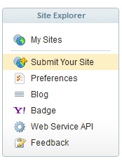 submit site yahoo explorer