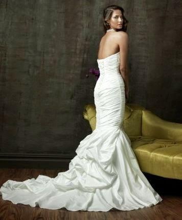 Vestido de Novia Sirena Drapeado con Cuello Halter
