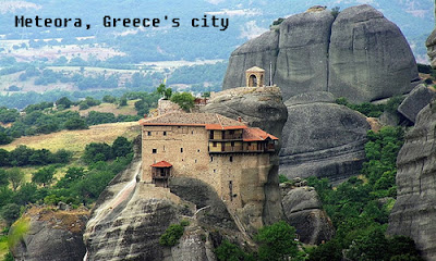 Meteora Greece sharp needle like rocks