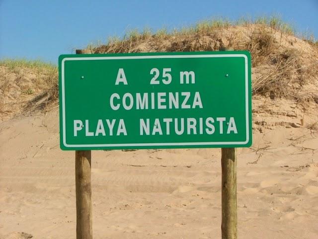 Playa nudista Uruguay