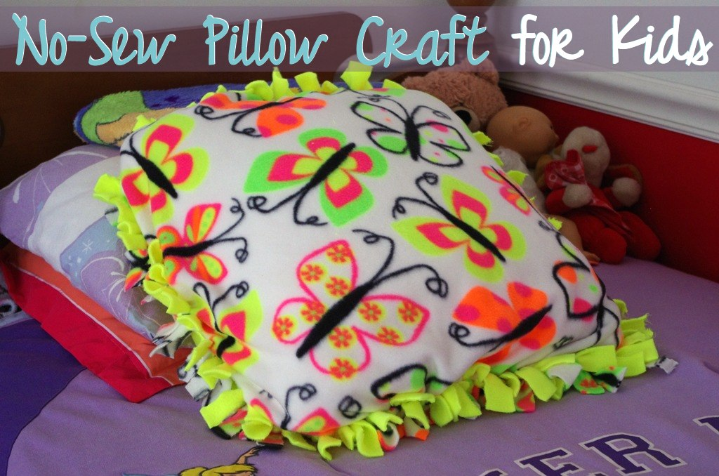 No Sew Pillow Craft For Kids A Modern Mrs