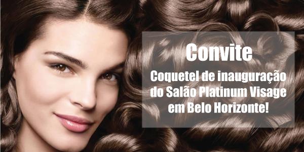convite coquetel de inauguração do salão de beleza platinum visagem em belo horizonte