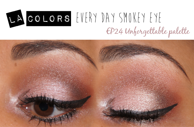 La Colors Brown Smokey Eye Using EP24 Unforgettable Palette