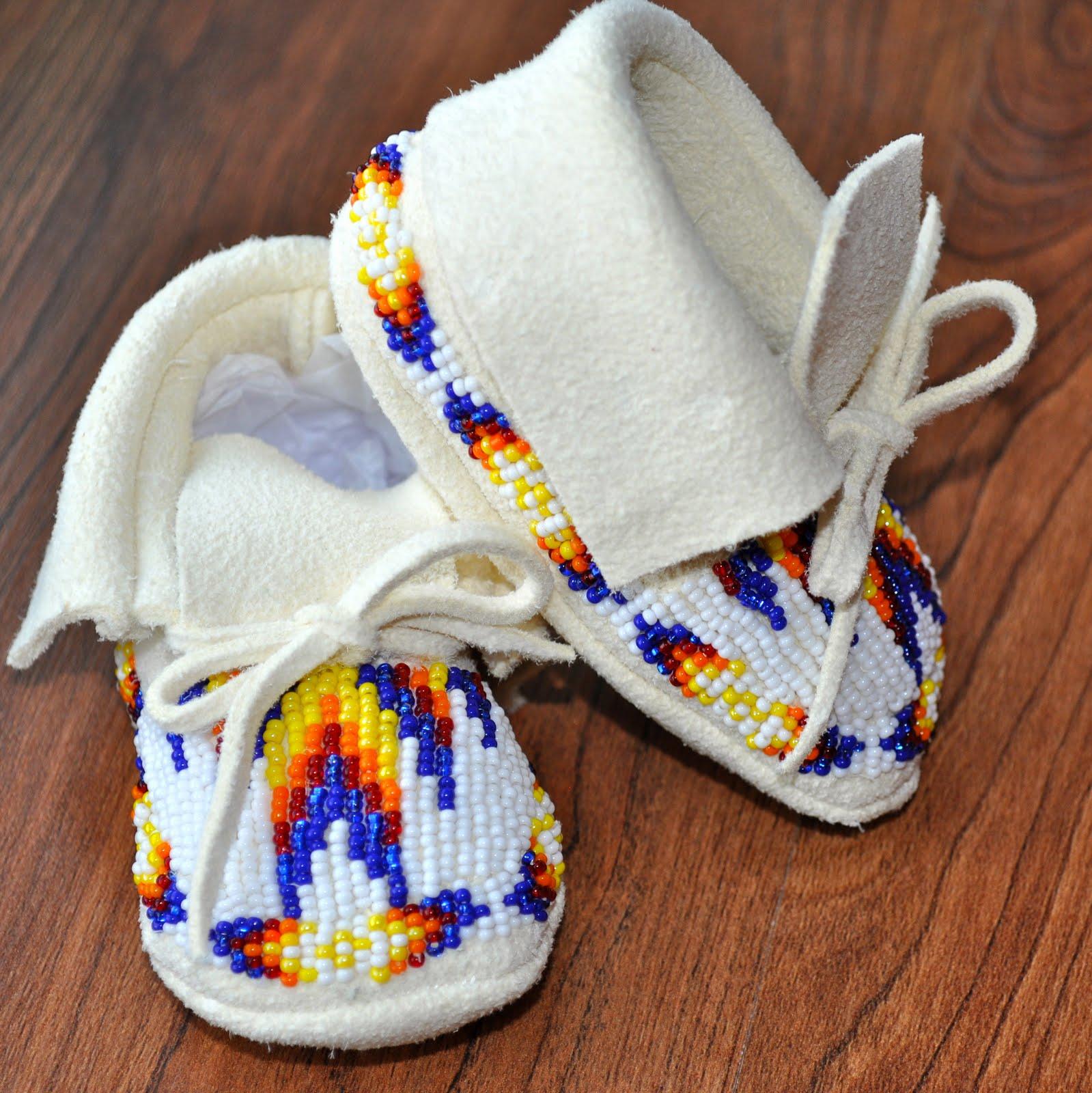 Creative Native Boutique Newborn Baby Moccasins