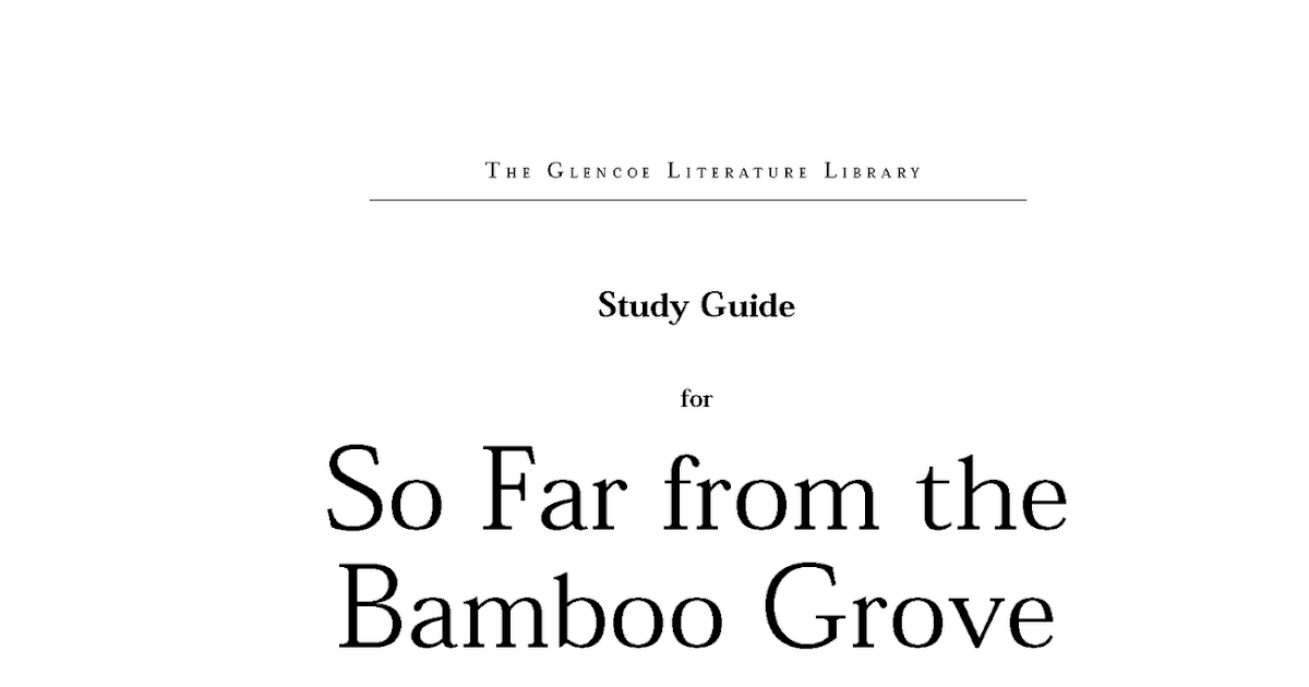 so far from the bamboo grove In the final days of world war ii, koreans were determined to take back control of their country from the japanese and end the suffering caused by the japanese occupation.