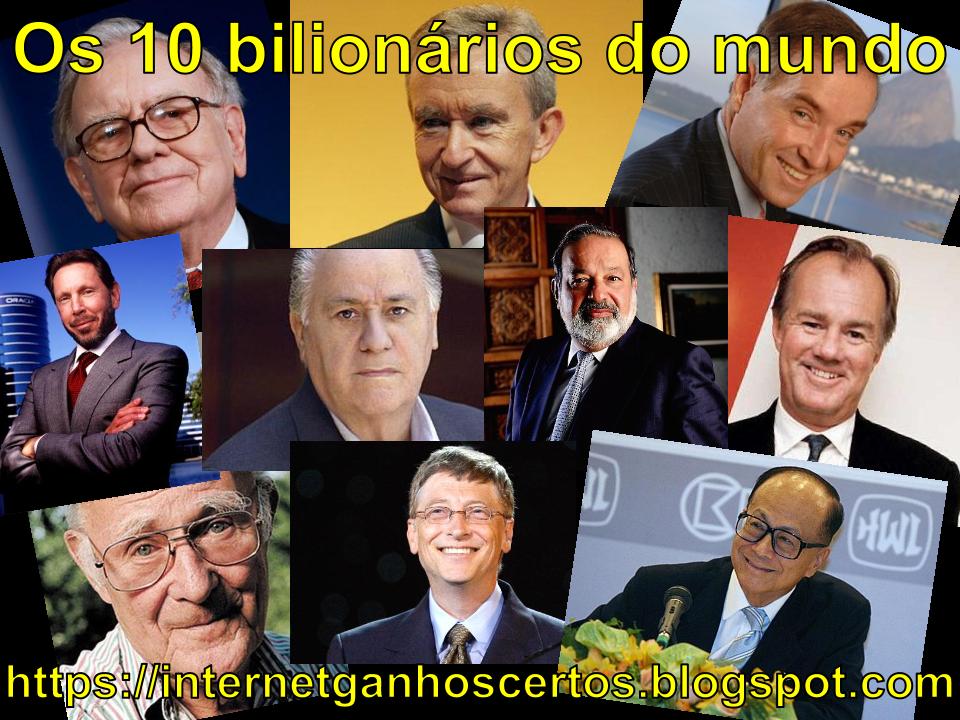 Os 10 homens mais ricos do ano de 2013 1