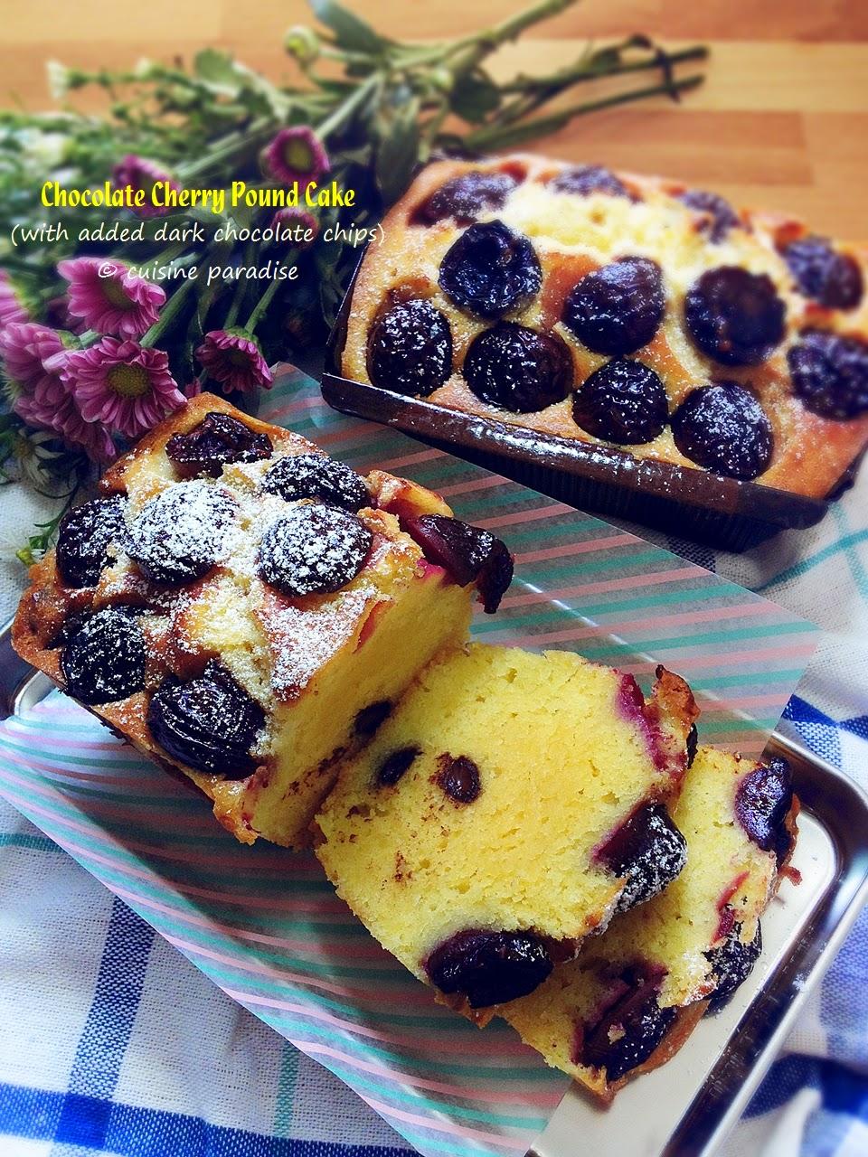 tea chocolate cherry pound cake frankly speaking this pound cake ...