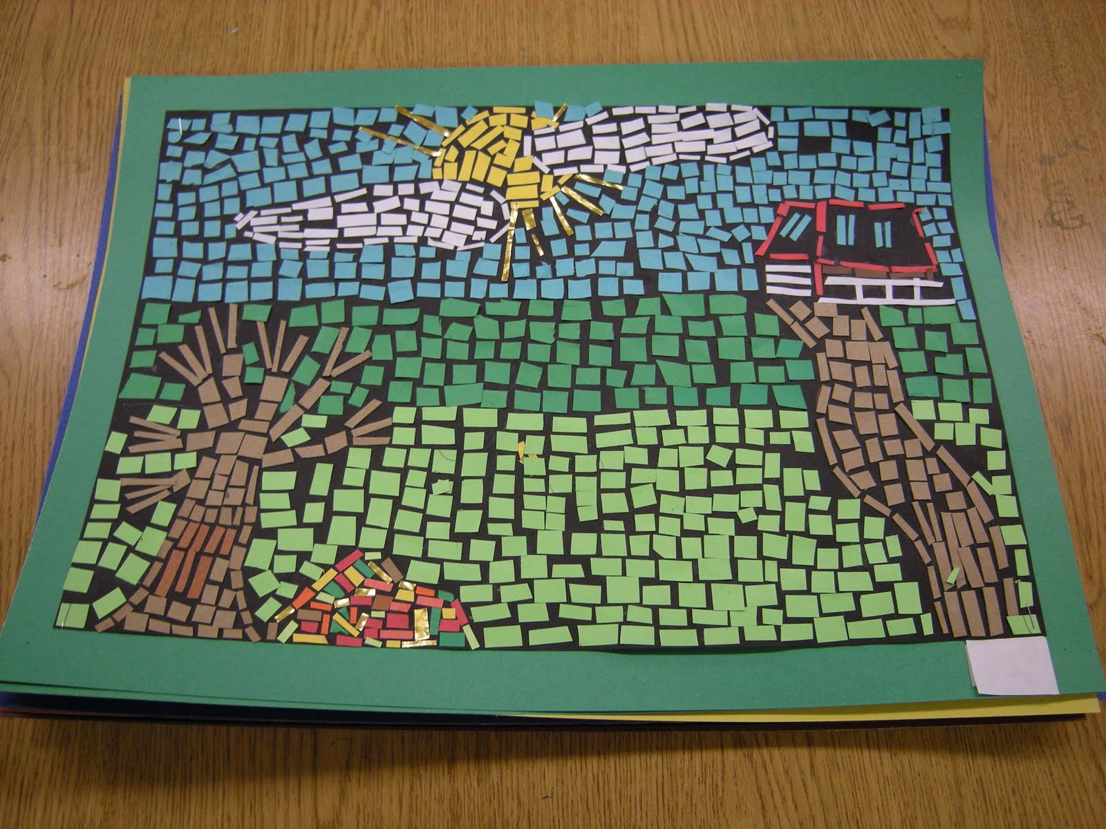mosaics paper 2017-07-08 10:00:00 2017-07-08 12:00:00 america/chicago family workshops: paper mosaics leap into learning together and discover art in two different ways, by looking and making.