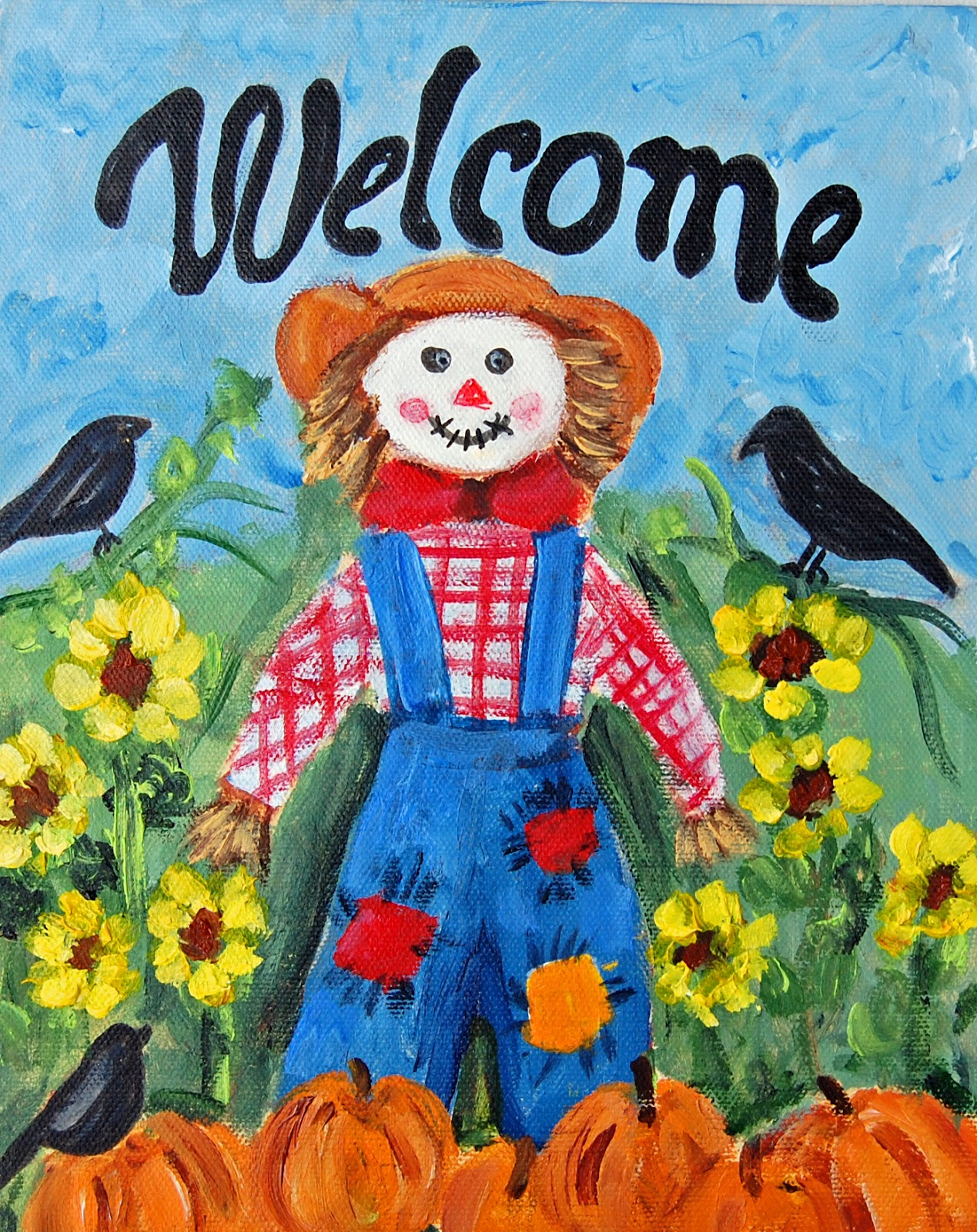 My painted garden lets paint a lady scarecrow dhlflorist Image collections