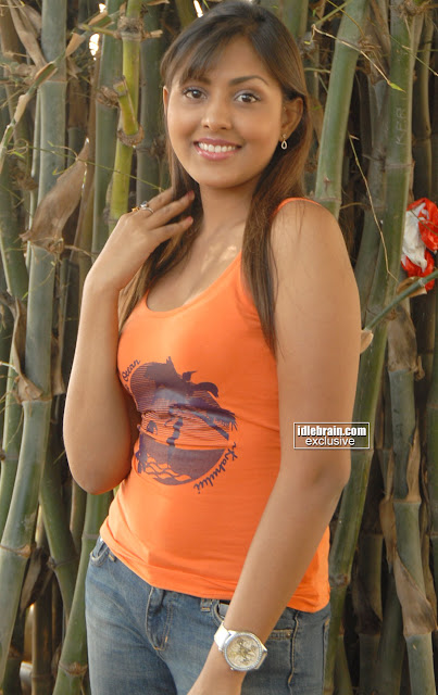 Sweet Wet Madhu Shalini in spicy Orange dress Hot